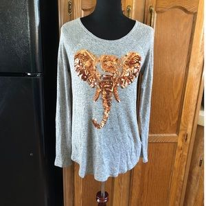 Elephant Sequin Top by Bear Dance Size Large